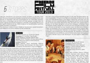 Freeride Magazin Freeski Filmfestival 2013 page 1