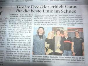 Tiroler Tageszeitung 12.1.2015
